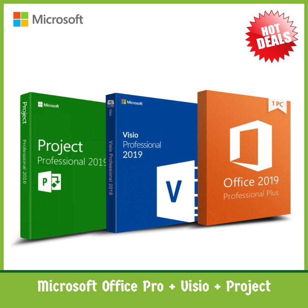 Microsoft Office Pro with vision and project